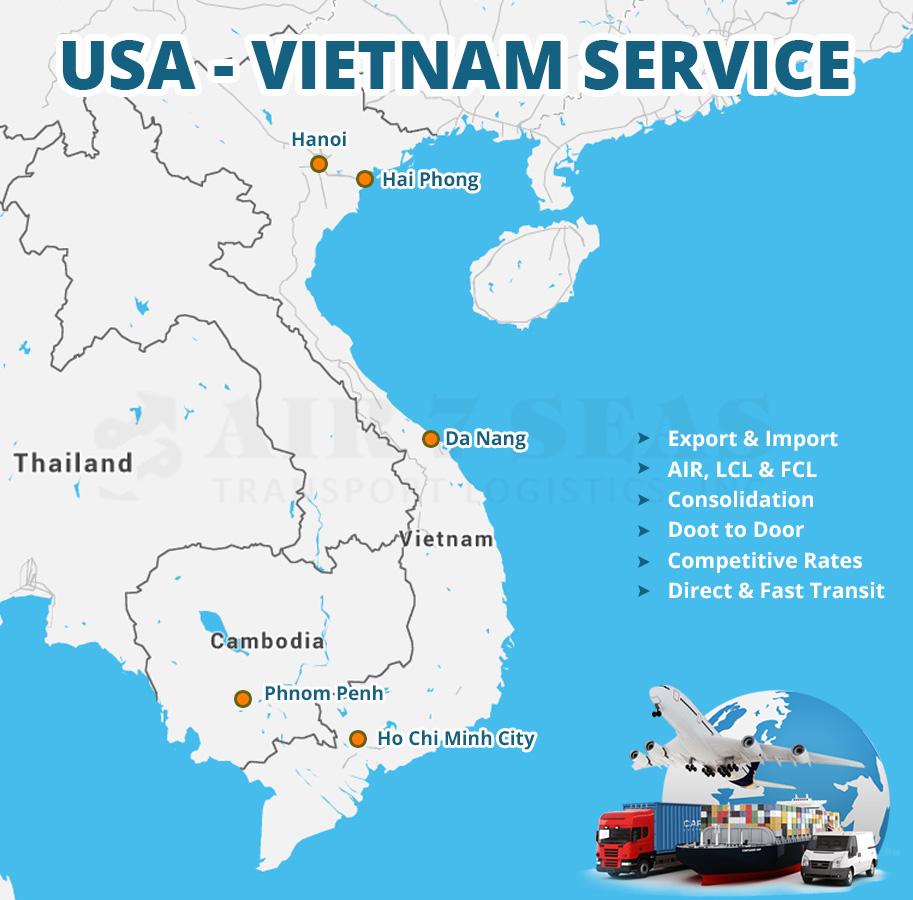 Vietnam Cargo Service Map